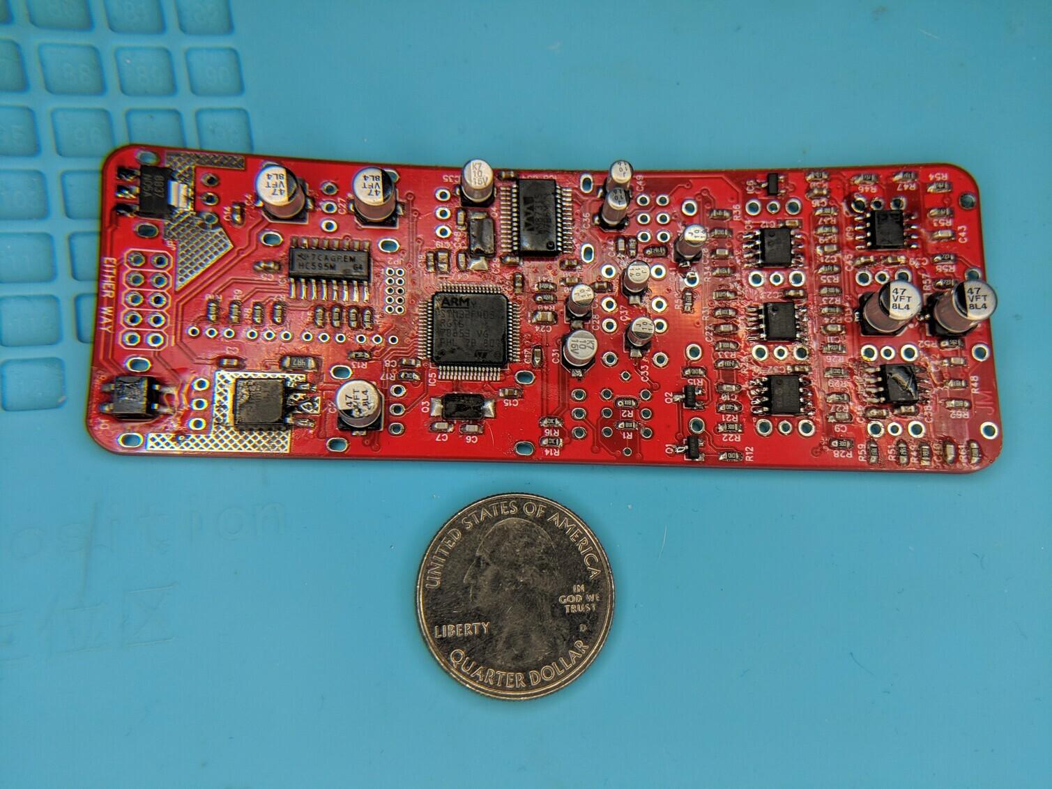 uBurst PCB back side assembly